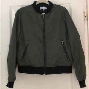 Kendal and Kyle olive green bomber jacket